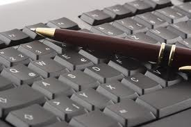 A pen in a keypad, when it's meant to be in a pen holder