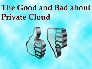 The Good and Bad about Private Cloud