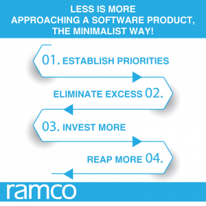 Less is More.  Approaching a software product, the Minimalist way!