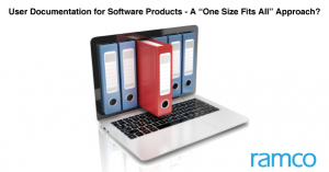 """User Documentation for Software Products - A """"One Size Fits All"""" Approach????"""